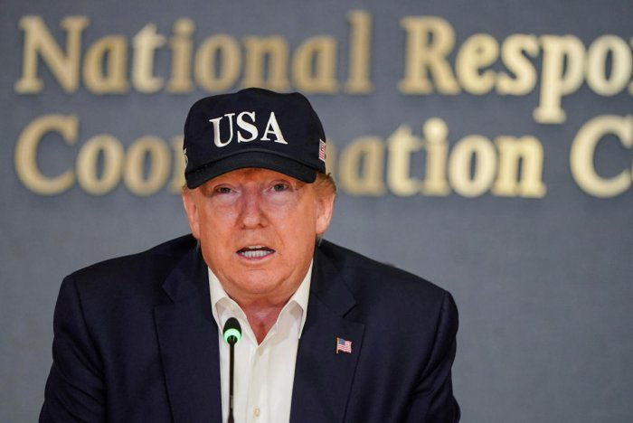 """""""While I am sure they would love to be dealing with a new administration... 16 months PLUS is a long time to be hemorrhaging jobs and companies,"""" Trump said, claiming China's deteriorating economy could ill afford to wait. (Reuters File Photo)"""