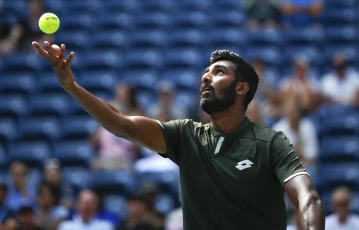 The Indian left-hander had to toil hard before prevailing 6-4 7-6(3) in the third round of the USD 162,480 hard court tournament. AP/PTI file photo