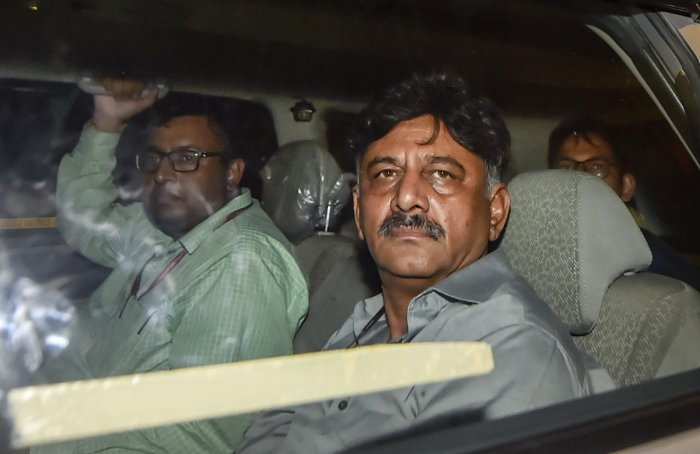 Karnataka Congress leader D K Shivakumar leaves after being produced at Rouse Avenue Court in New Delhi, Wednesday, Sept 4, 2019. Shivakumar, arrested in a money laundering case, was sent to the ED custody till September 13 by the court today. (PTI Photo)