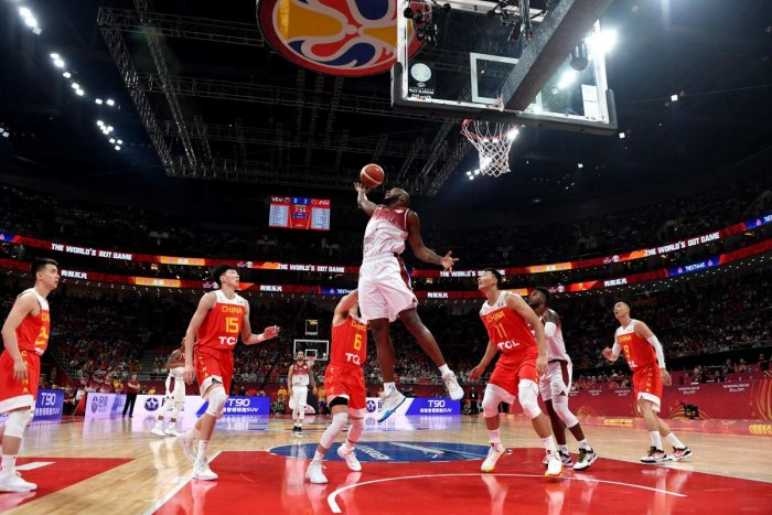It is the largest basketball World Cup ever but there will be no teams from Asia or Africa in the second round of the sport's global showpiece. (AFP Poto)