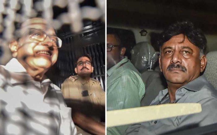 P Chidambaram and D K Shivakumar (PTI Photos)
