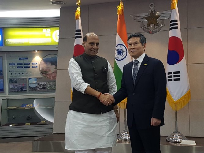 During the wide-ranging talks, held on Thursday in Seoul, the two leaders comprehensively reviewed bilateral defence cooperation, a Defence Ministry statement said.