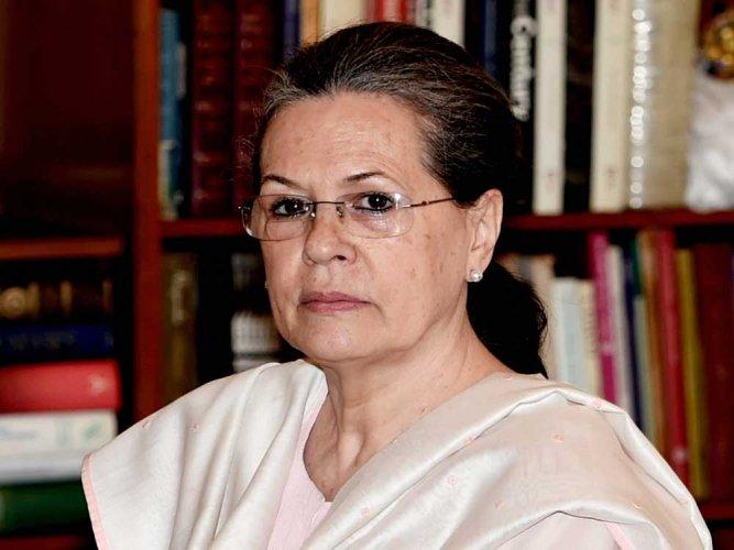 Sonia Gandhi. PTI file photo