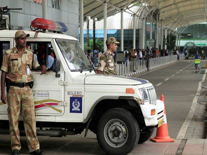Security was beefed up at the Chhatrapati Shivaji International Airport, one of the busiest airport in the country. PTI file photo