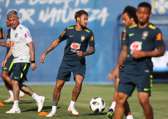 Neymar has not played since suffering an ankle injury in a friendly against Qatar in June which ruled him out of the Copa America. (Reuters File Photo)