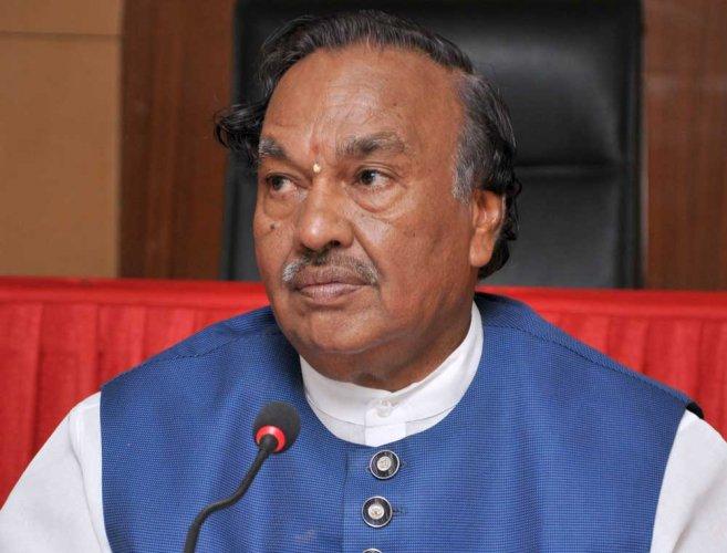 Rural Development & Panchayat Raj (RDPR) Minister K S Eshwarappa