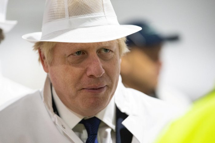 Britain's Prime Minister Boris Johnson visits Peterhead Fish Market in Peterhead, Scotland September 6, 2019. Photo by Reuters