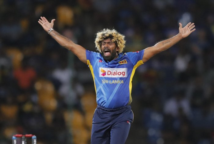 Sri Lanka's Lasith Malinga during the third Twenty20 international cricket match between Sri Lanka and New Zealand in Pallekele, Sri Lanka, Friday, Sept. 6, 2019. AP/PTI Photo