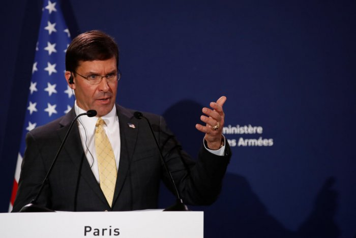 U.S. Defense Secretary Mark Esper. (Reuters Photo)