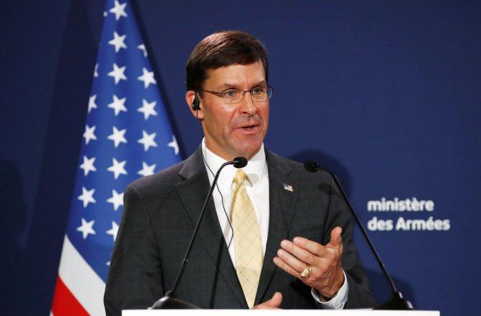 US Defense Secretary Mark Esper. Reuters file photo