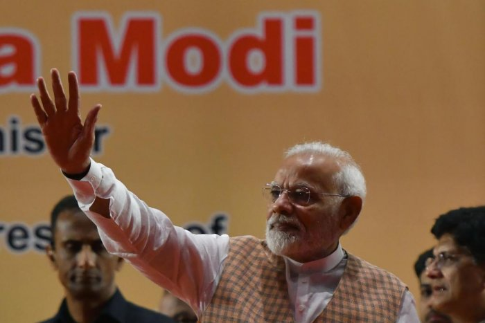 Modi also inaugurated the 10,000-acre Aurangabad Industrial City (AURIC). AFP photo
