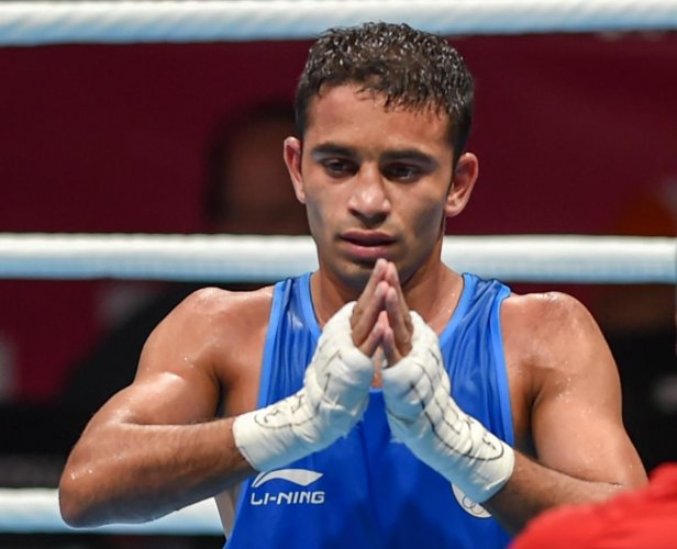India's hopes will be majorly pinned on pint-sized dynamo Amit Panghal (52kg). The reticent 23-year-old from Haryana has been on a roll for more than a year. (PTI File Photo)