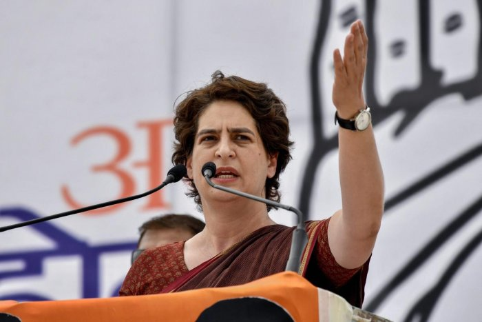 Priyanka Gandhi's attack came as the Modi government completed 100 days in office in its second term. PTI file photo