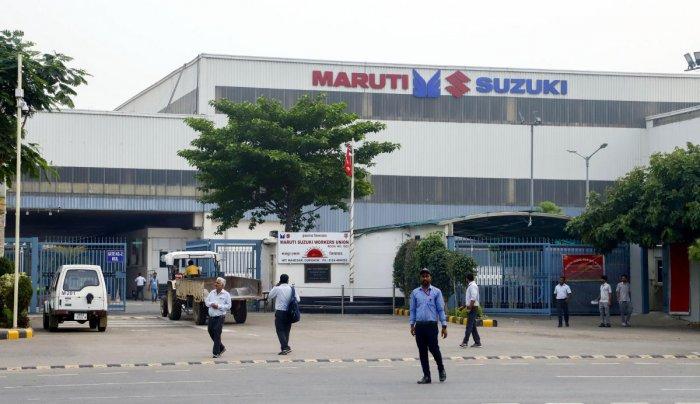 A view of a Maruti Suzuki plant. PTI file photo