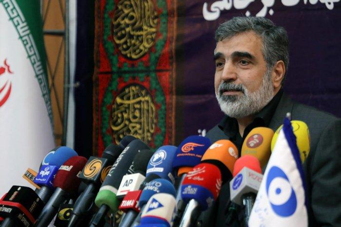 Behrouz Kamalvandi, spokesman for the Atomic Energy Organization of Iran speaks during a news conference in Tehran (Reuters Photo)