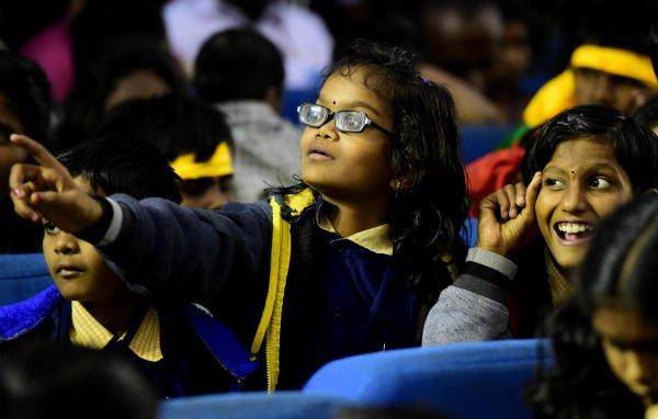 Children with disabilities exchanging greetings at a programme in Bengaluru (Photo/ KRISHNAKUMAR P S)