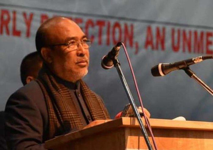 Manipur CM N Biren Singh. DH Photo