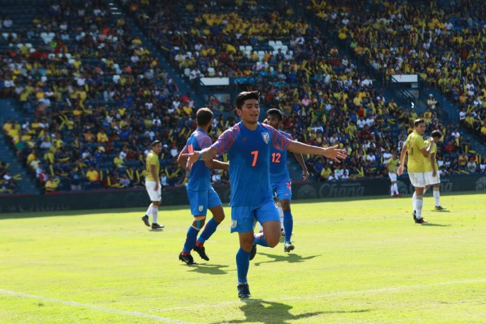 Midfielder Anirudh Thapa is positive about India's chances against Qatar on Tuesday. File photo