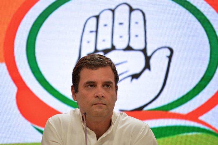 Congress leader Rahul Gandhi. PTI file photo