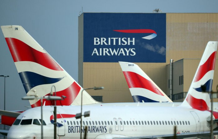 British Airways aircraft is seen at Heathrow Airport in west London (Reuters Photo)