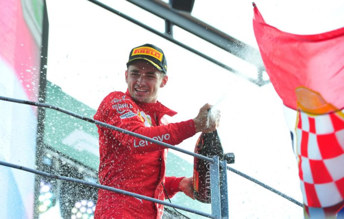 Leclerc drove a superb defensive race to keep Hamilton behind first and then Bottas to win Ferrar's home GP. Reuters Photo