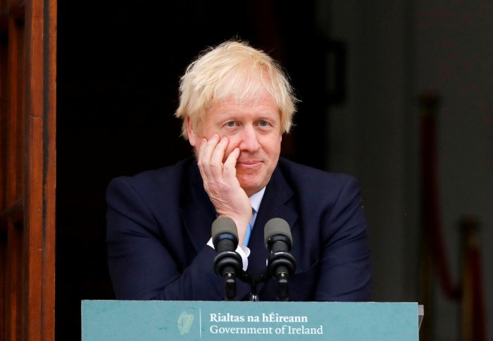 Johnson said he was bringing ideas on ways to resolve the Irish border backstop but that a breakthrough was unlikely on Monday. Reuters photo