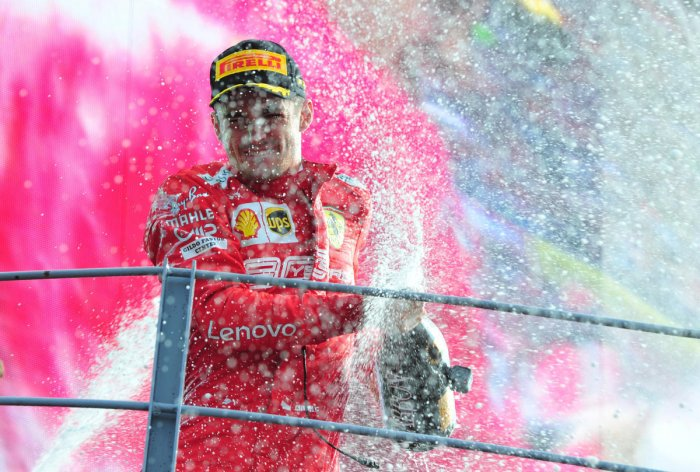 The victory at Monza was Leclerc's second in a row, following on from his breakthrough in Belgium the previous weekend, but the first by a Ferrari driver since 2010. DH Photo