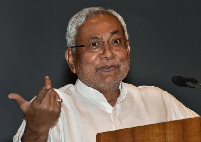 This is for the first time that the saffron camp has asked Nitish to vacate the Chief Minister's chair. PTI Photo