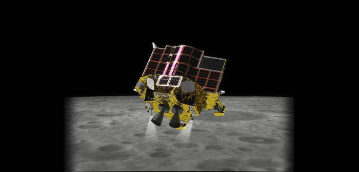 A representational image of a future moon lander with SLIM technology. (Photo/Embassy of Japan, New Delhi)