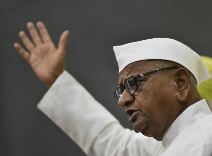 Social activist Anna Hazare. PTI Photo