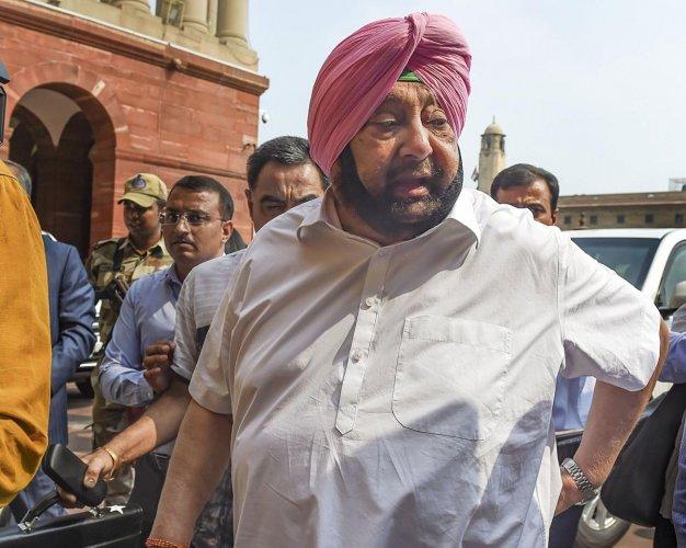 Punjab Chief Minister Amarinder Singh. PTI Photo