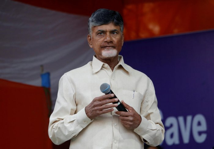 Naidu was angry police have behaved highhandedly while dealing with women leaders. Reuters photo