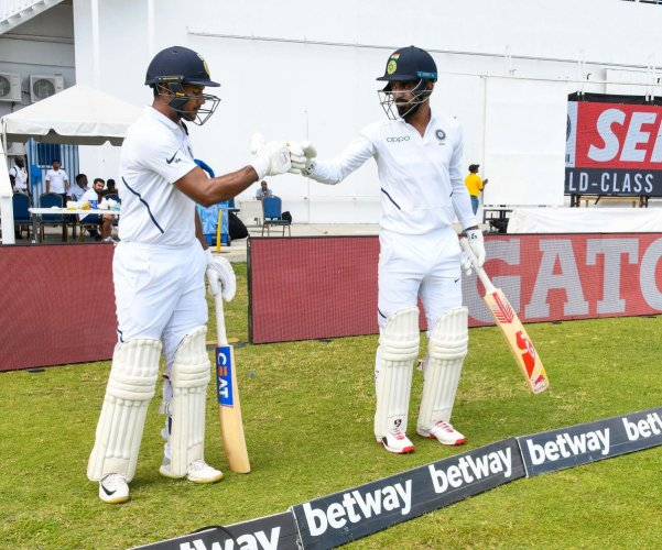 Mayank Agarwal (L) and KL Rahul (R) opened for India in the recently concluded Test series against West Indies. AFP file photo