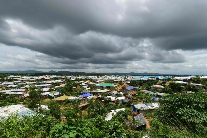 Kutupalong Rohingya refugee camp in Bangladesh's Ukhia district (Photo by FP)