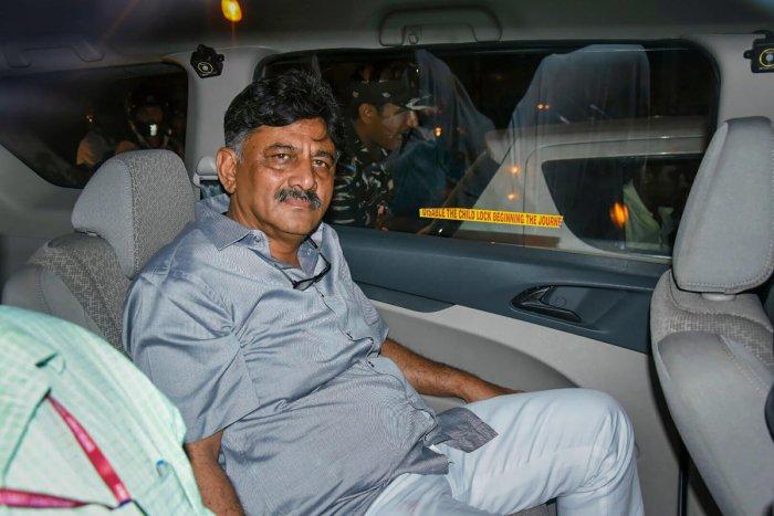 Karnataka Congress leader D K Shivakumar. (PTI File Photo)