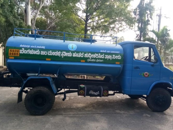 Tankers introduced by BWSSB to supply treated water across the city.