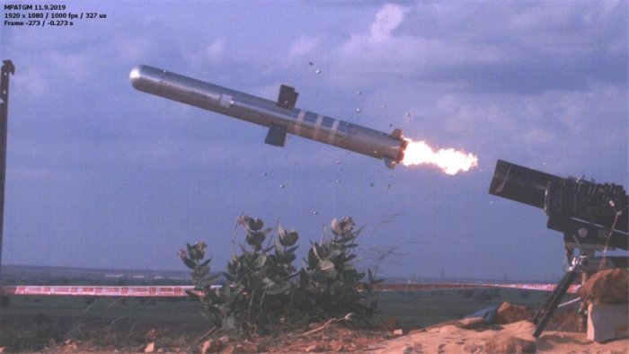 The low-weight, fire and forget missile was launched from a range at Kurnool in Andhra Pradesh. dh photo