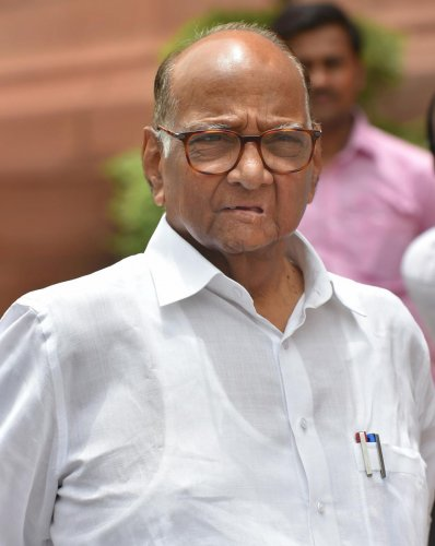 Nationalist Congress Party (NCP) President Sharad Pawar. (PTI Photo)