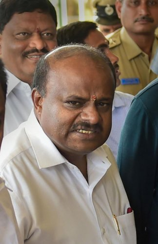 Karnataka's former Chief Minister H D Kumaraswamy. (PTI Photo)