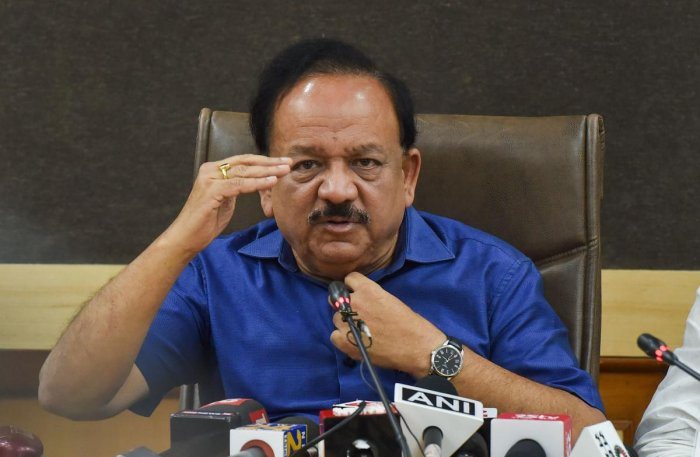 New Delhi: Union Health Minister Harsh Vardhan. (PTI Photo)