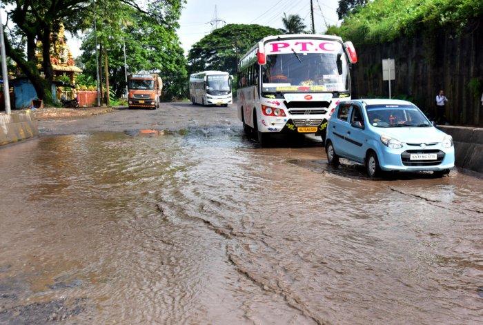 12 Potholes at Kuloor National highway