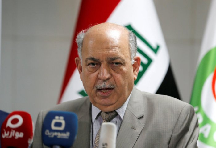 Iraqi Oil Minister Thamer Ghadhban speaks during a news conference in Baghdad, Iraq. (Reuters Photo)