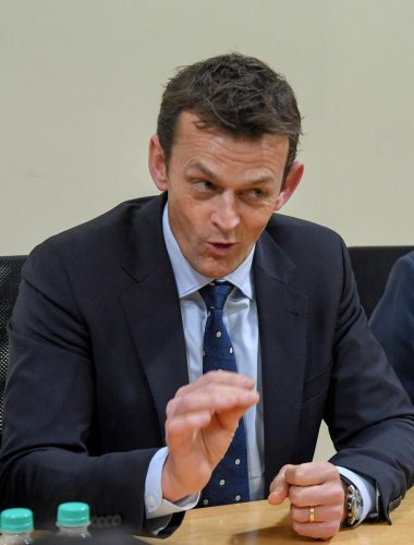 Former Australian cricketer Adam Gilchrist during an interaction with the media in Bengaluru on Wednesday. DH Photo/ B H Shivakumar