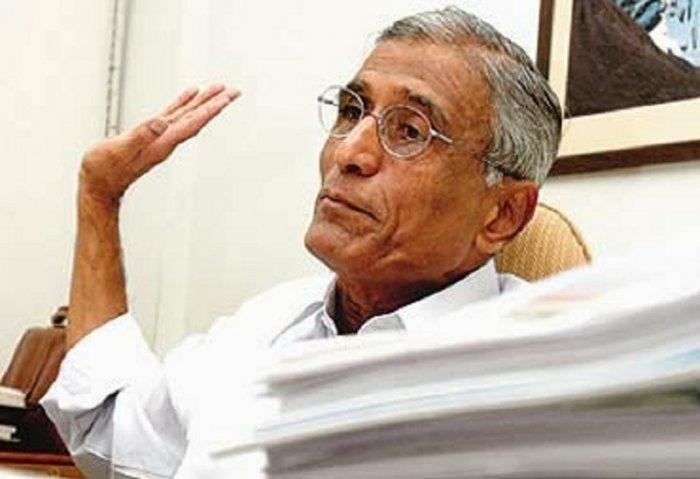 Satya Nadella's father, Yugandhar (DH File Photo)