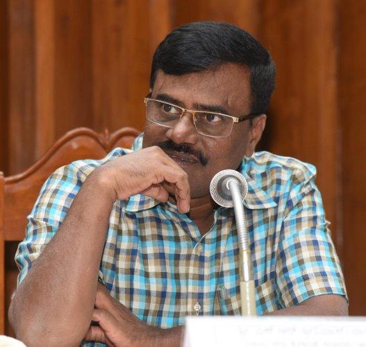 JD(S) MLA and former Minister S R Srinivas. (DH Fie Photo)