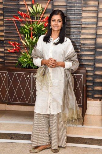 Nandita Das, Hindi film actor at Manto film preview in Bengaluru. (Photo by S K Dinesh)