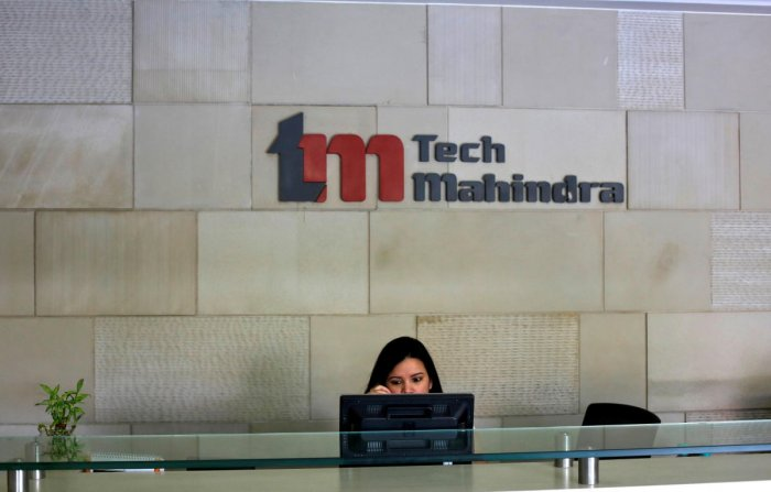 Tech Mahindra office building in Noida on the outskirts of New Delhi. (Photo by Reuters)
