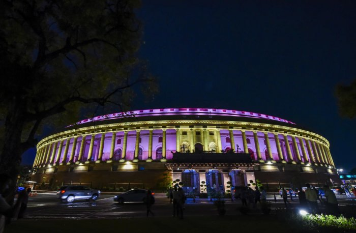 """Sources in the Union housing and urban affairs ministry said the Parliament House building was completed in 1927 and its facilities and infrastructure are """"inadequate"""" to meet the current demand. (PTI File Photo)"""