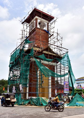 Monumental folly: The cost of Clock tower project, escalated from Rs 90 lakh to Rs one crore.
