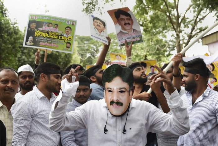 During the hearing of the PIL, a reference was also made to Wednesday's protest rally by the supporters of former minister D K Shivakumar. PTI